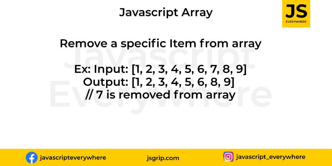 How to remove a specific value from an array?