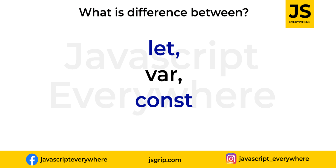 What is difference between let, var and const?